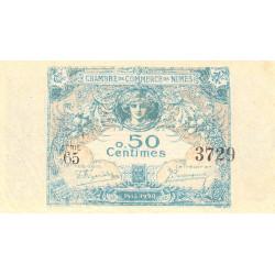 Nîmes - Pirot 92-10 variété - 50 centimes - Série 65 - 04/06/1915  - Emission 1915-1920 - Etat : SPL