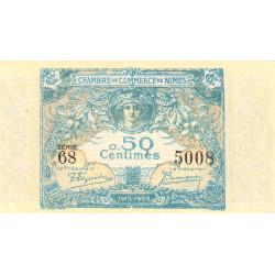 Nîmes - Pirot 92-10 variété - 50 centimes - Série 68 - 04/06/1915  - Emission 1915-1920 - Etat : NEUF