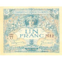 Nîmes - Pirot 92-11 - 1 franc - Série 77 - 04/06/1915  - Emission 1915-1920 - Etat : pr.NEUF