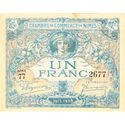Nîmes - Pirot 92-11 - 1 franc - Série 77 - 04/06/1915  - Emission 1915-1920 - Etat : SUP+ à SPL