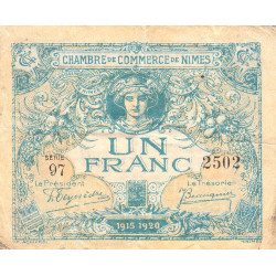 Nîmes - Pirot 92-11b - 1 franc - Etat : TB-