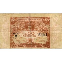 Nîmes - Pirot 92-12 - 50 centimes - Série 8 - 04/06/1915  - Emission 1917-1922 - Etat : TB-