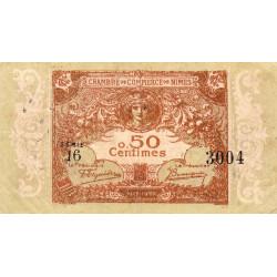 Nîmes - Pirot 92-12 - 50 centimes - Série 16 - 04/06/1915  - Emission 1917-1922 - Etat : TB+