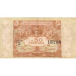 Nîmes - Pirot 92-12 variété - 50 centimes - Série 3 - 04/06/1915  - Emission 1917-1922 - Etat : TTB