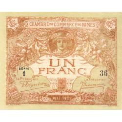 Nîmes - Pirot 92-14 - 1 franc - Série 1 - 04/06/1915  - Emission 1917-1922 - Petit numéro - Etat : NEUF