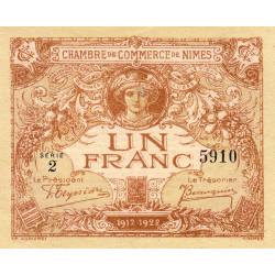 Nîmes - Pirot 92-14 - 1 franc - Série 2 - 04/06/1915  - Emission 1917-1922 - Etat : SUP+