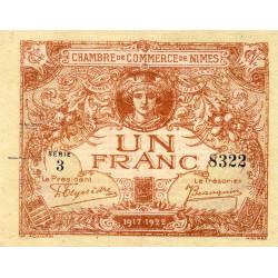 Nîmes - Pirot 92-14 - 1 franc - Série 3 - 04/06/1915  - Emission 1917-1922 - Etat : TTB+ à SUP