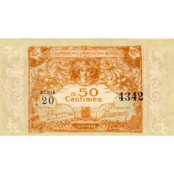 Nîmes - Pirot 92-17 - 50 centimes - Série 20 - Emission 1917-1922 - Etat : SUP+