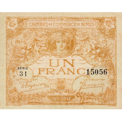 Nîmes - Pirot 92-18c - 1 franc - Etat : TTB+ à SUP