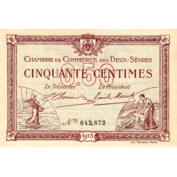 Niort - Deux-Sèvres - Pirot 93-1 - 50 centimes - 30/09/1915 - Etat : SPL