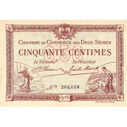 Niort - Deux-Sèvres - Pirot 93-1 - 50 centimes - 30/09/1915 - Etat : SUP+