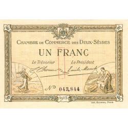 Niort - Deux-Sèvres - Pirot 93-3 - 1 franc - 30/09/1915 - Etat : NEUF