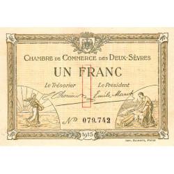 Niort - Deux-Sèvres - Pirot 93-3 - 1 franc - 30/09/1915 - Etat : SPL