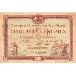 Niort - Deux-Sèvres - Pirot 93-6 - 50 centimes - 10/07/1916 - Etat : TB