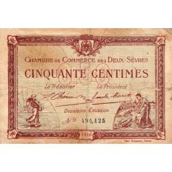 Niort - Deux-Sèvres - Pirot 93-6 - 50 centimes - 10/07/1916 - Etat : B+