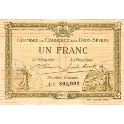 Niort - Deux-Sèvres - Pirot 93-8 - 1 franc - 10/07/1916 - Etat : TB