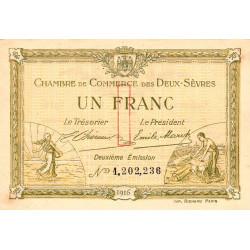 Niort - Deux-Sèvres - Pirot 93-08b - 1 franc - Etat : SUP