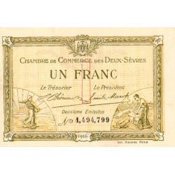 Niort - Deux-Sèvres - Pirot 93-8 - 1 franc - 10/07/1916 - Etat : SPL