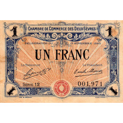 Niort - Deux-Sèvres - Pirot 93-11 - 1 franc - Etat : TTB-