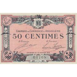 Angoulême - Pirot 9-1 - 50 centimes - 1ère série - 15/01/1915 - Etat : SPL