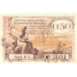 Nord et Pas-de-Calais - Pirot 94-4b - Série H5 - 50 centimes - Etat : B+