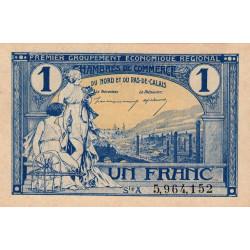 Nord et Pas-de-Calais - Pirot 94-7 - Série A - 1 franc - Etat : TTB+
