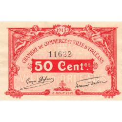Orléans - Loiret - Pirot 95-4 - 50 centimes - 1915 - Etat : SUP