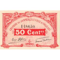 Orléans - Loiret - Pirot 95-4 - 50 centimes - 1915 - Etat : SPL