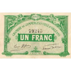 Orléans - Loiret - Pirot 95-6 - 1 franc - 1915 - Etat : TTB+ à SUP