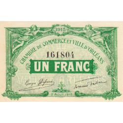 Orléans - Loiret - Pirot 95-6 - 1 franc - 1915 - Etat : SUP+ à SPL