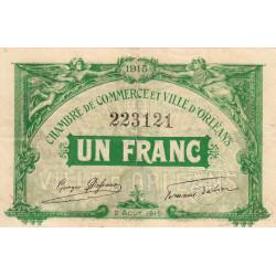 Orléans - Loiret - Pirot 95-6 - 1 franc - 1915 - Etat : TB+