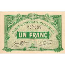 Orléans - Loiret - Pirot 95-6 - 1 franc - 1915 - Etat : SPL