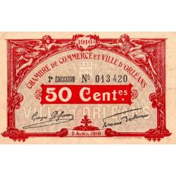 Orléans - Loiret - Pirot 95-8 - 50 centimes - 1916 - Etat : TTB+
