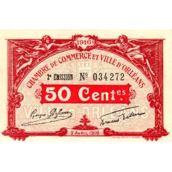 Orléans - Loiret - Pirot 95-8 - 50 centimes - 1916 - Etat : SPL