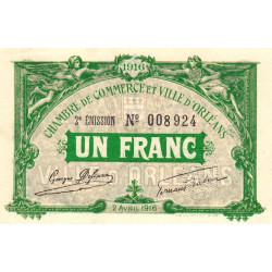 Orléans - Loiret - Pirot 95-12 - 1 franc - 1916 - Etat : pr.NEUF