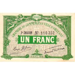 Orléans - Loiret - Pirot 95-12 - 1 franc - Etat : SPL