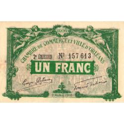 Orléans - Loiret - Pirot 95-12 - 1 franc - 1916 - Etat : TTB