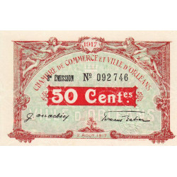 Orléans - Loiret - Pirot 95-16 - 50 centimes - 1917 - Etat : NEUF