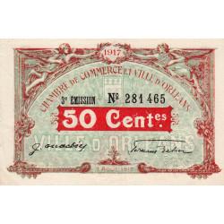 Orléans - Loiret - Pirot 95-16 - 50 centimes - 1917 - Etat : SUP+