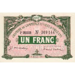 Orléans - Loiret - Pirot 95-17 - 1 franc - 1917 - Etat : NEUF