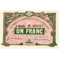 Orléans - Loiret - Pirot 95-17 - 1 franc - 1917 - Etat : SPL