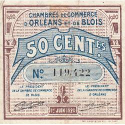 Orléans et Blois - Pirot 96-1 - 50 centimes - 01/06/1920 - Etat : TB+