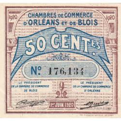 Orléans et Blois - Pirot 96-1 - 50 centimes - 01/06/1920 - Etat : SUP+