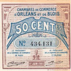 Orléans et Blois - Pirot 96-1 - 50 centimes - 01/06/1920 - Etat : SUP