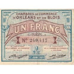 Orléans et Blois - Pirot 96-3 - 1 franc - 01/06/1920 - Etat : TB+