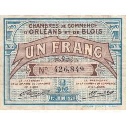 Orléans et Blois - Pirot 96-3 - 1 franc - 01/06/1920 - Etat : TB