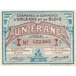 Orléans et Blois - Pirot 96-3 - 1 franc - 01/06/1920 - Etat : SUP