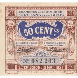 Orléans et Blois - Pirot 96-5 - 50 centimes - 15/05/1921 - 2me émission - Etat : SUP