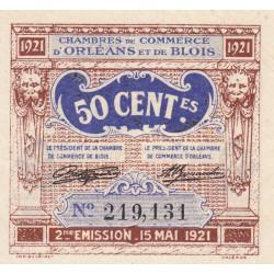 Orléans et Blois - Pirot 96-5 - 50 centimes - 15/05/1921 - 2me émission - Etat : SUP+