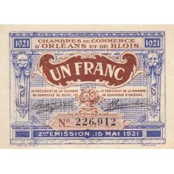 Orléans et Blois - Pirot 96-7 - 1 franc - 15/05/1921 - 2me émission - Etat : SUP+